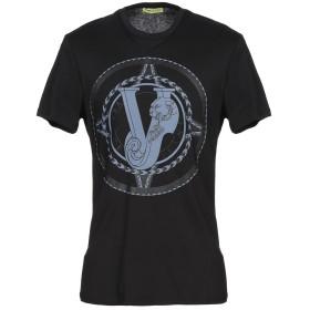 《セール開催中》VERSACE JEANS メンズ T シャツ ブラック S 100% コットン