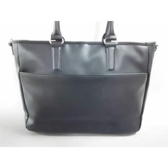 【中古】 ビューティアンドユース ユナイテッドアローズ ビジネスバッグ 美品 黒 合皮