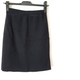 【中古】 ピンキー&ダイアン Pinky & Dianne スカート サイズM レディース 黒 ニット/ウエストゴム