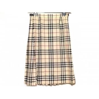 【中古】 バーバリーロンドン 巻きスカート サイズ38 L レディース ベージュ 黒 レッド チェック柄