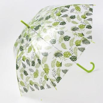 【fururi】ふるり プリント長傘 トロピカルグリーン