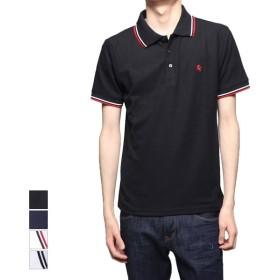 ポロシャツ - Style Block MEN ポロシャツ 半袖 カノコトップス 刺繍 ライン入り 吸汗速乾 ドライ トップス メンズ ブラック ネイビー ホワイトA ホワイトB夏先行