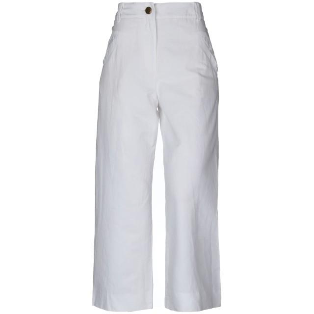 《セール開催中》INCOTEX レディース パンツ ホワイト 28 コットン 79% / 麻 21%