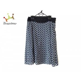トゥモローランド TOMORROWLAND スカート サイズ1 S レディース 美品 白×ブルー×黒 スペシャル特価 20190801