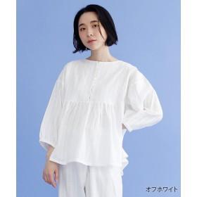 【35%OFF】 メルロー ドットライン刺繍コットンブラウス レディース オフホワイト FREE 【merlot】 【セール開催中】