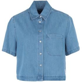 《セール開催中》CALVIN KLEIN JEANS レディース デニムシャツ ブルー XS コットン 65% / テンセル 35% CROPPED SS SHIRT IND