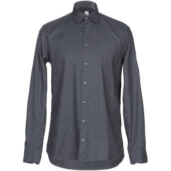 《期間限定セール開催中!》BASTONCINO メンズ シャツ ダークブルー 39 コットン 100%