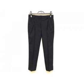 【中古】 セオリー theory パンツ サイズ0 XS レディース 美品 ダークネイビー 白 ストライプ