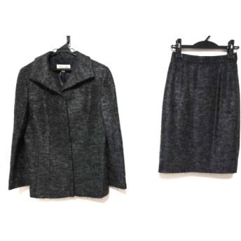【中古】 ハナエモリ HANAE MORI スカートスーツ サイズ11A3 レディース ダークグレー ネーム印字あり