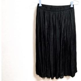【中古】 ビアズリー BEARDSLEY ロングスカート サイズF レディース 黒 ウエストゴム/チュール