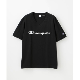 【20%OFF】 ラブレス MEN 別注VネックエンブロイダリーTシャツ メンズ ブラック M 【LOVELESS】 【セール開催中】