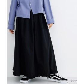 【30%OFF】 メルロー フリルヘムギャザースカート レディース ブラック FREE 【merlot】 【セール開催中】