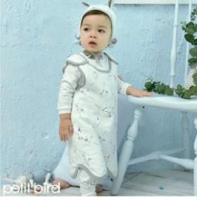 83d315602506e スリーパー 赤ちゃん ANIZOO シロクマ ゾウ オーガニック コットン 綿 ナチュラル ベビー 男の子 女の子 布団 動物 1歳