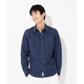 BACK NUMBER 【WEB限定価格】日本製 岡山セルビッチワークシャツ メンズ 濃色