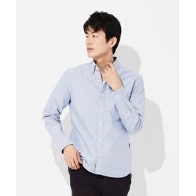 BACK NUMBER 【WEB限定】日本製 西脇オックスボタンダウンシャツ メンズ サックス