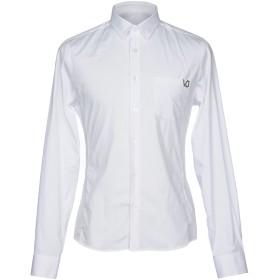 《セール開催中》VERSACE JEANS メンズ シャツ ホワイト 50 コットン 97% / ポリウレタン 3%