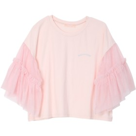【5,000円以上お買物で送料無料】チュールスリーブTシャツ