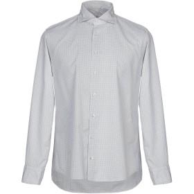 《期間限定セール中》BASTONCINO メンズ シャツ ライトグレー 40 コットン 100%