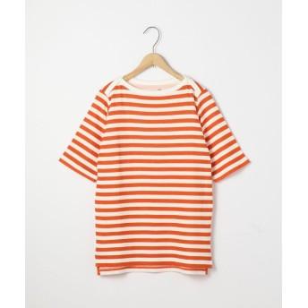 【55%OFF】 コーエン セッケツボーダーボートネックTシャツ レディース ORANGE L 【coen】 【タイムセール開催中】