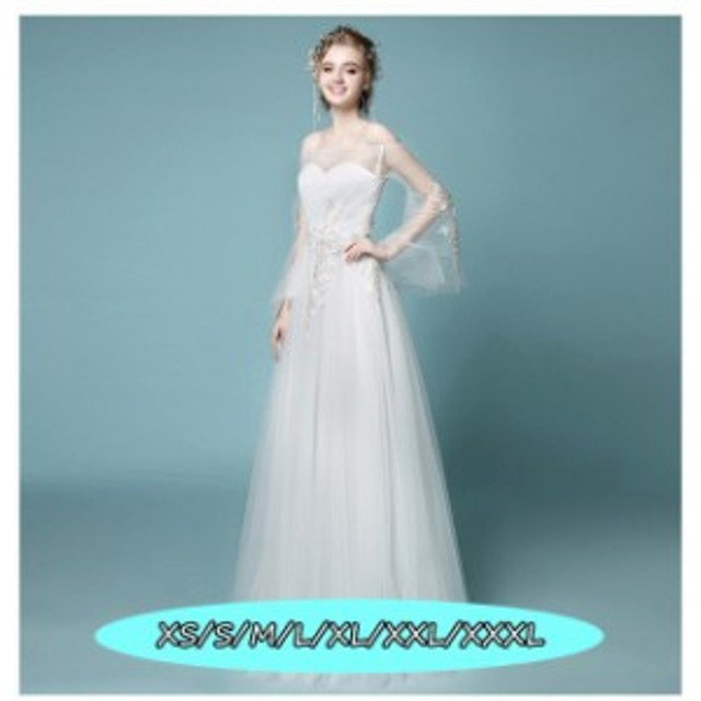 チュールスカート 豪華な 結婚式ワンピース お嫁さん ウェディングドレス クオリティー オフショルダー 上品 ドレス 花嫁 ホワ
