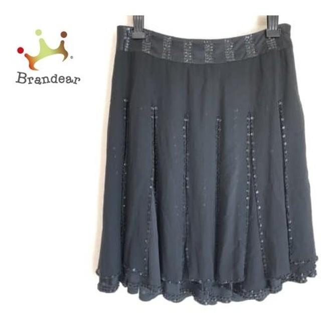 グレースコンチネンタル GRACE CONTINENTAL スカート サイズ36 S レディース 黒 スパンコール     スペシャル特価 20190804
