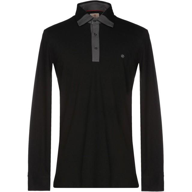 《期間限定セール開催中!》BAGUTTA メンズ ポロシャツ ブラック S コットン 94% / ポリウレタン 6%