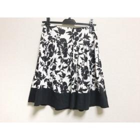 【中古】 ジャスグリッティー JUSGLITTY スカート サイズ1 S レディース 美品 白 黒