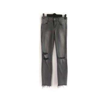 【中古】 ジェイブランド J Brand パンツ サイズ22 レディース グレー ダメージ加工