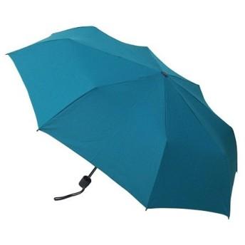東急ハンズ hands+ 風に強い簡単開閉 折りたたみ傘 55cm ターコイズ