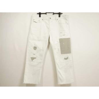 【中古】 ディーゼル DIESEL パンツ サイズ34 S メンズ WAYKEE 白 グレー