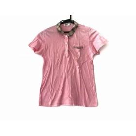 【中古】 ダックス DAKS 半袖ポロシャツ サイズM レディース ピンク ベージュ マルチ チェック柄