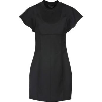 《セール開催中》ALEXANDER WANG レディース ミニワンピース&ドレス ブラック 0 ポリエステル 53% / バージンウール 43% / ポリウレタン 4%