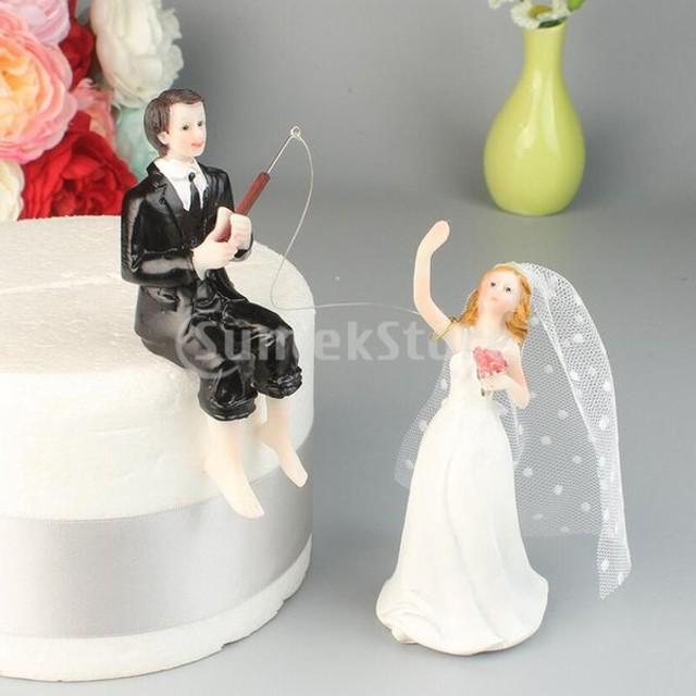 ケーキトッパー 結婚式 ウエディングケーキ カップル 樹脂人形 置物 装飾 ロマンチック 多仕様選べ - #2