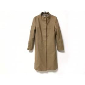 【中古】 ロペ ROPE コート サイズ9AT M レディース ライトブラウン 冬物/ロング丈