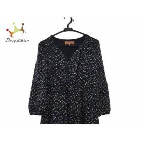 スーナウーナ SunaUna ワンピース サイズ38 M レディース 美品 黒×ベージュ×マルチ 新着 20190716