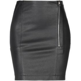 《セール開催中》PATRIZIA PEPE レディース ひざ丈スカート ブラック 40 コットン 95% / ポリウレタン 5% / 羊革(シープスキン)