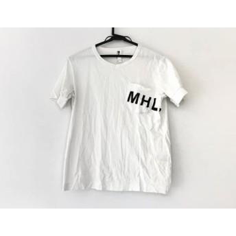 【中古】 マーガレットハウエル MHL. 半袖Tシャツ サイズM メンズ 白 黒