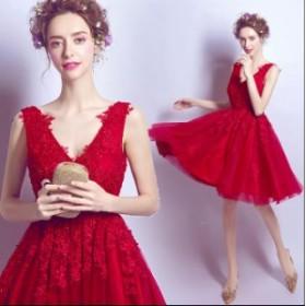 パーティードレス 可愛い♪ プリンセスライン 花嫁♪人気 素敵 ワンピース ブライダル  大きいサイズ  ウェディングドレス  結婚式 二次