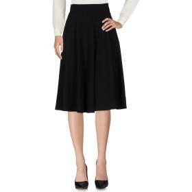《セール開催中》CLIPS MORE レディース 7分丈スカート ブラック 44 ポリエステル 63% / レーヨン 32% / ポリウレタン 5%