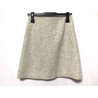 【中古】 トゥモローランド TOMORROWLAND スカート サイズ34 S レディース 白 マルチ