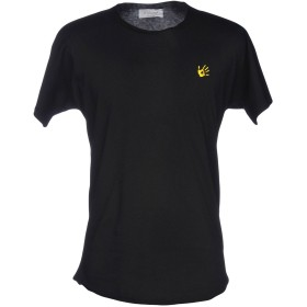 《期間限定 セール開催中》FRI: HAEND メンズ T シャツ ブラック S コットン 93% / ポリウレタン 7%