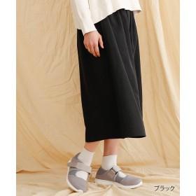 【40%OFF】 メルロー ゴムギャザースカート レディース ブラック FREE 【merlot】 【セール開催中】