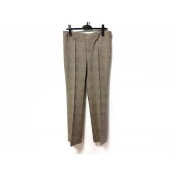 【中古】 アクリス AKRIS パンツ サイズUS10 L レディース アイボリー ダークブラウン