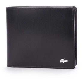 ラコステ LACOSTE 二つ折り財布 (ブラック)