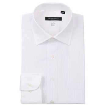 【THE SUIT COMPANY:トップス】【SUPER EASY CARE】クレリック&ワイドカラードレスシャツ 〔EC・BASIC〕