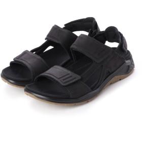 エコー ECCO Mens X-TRINSIC Flat Sandal (BLACK)