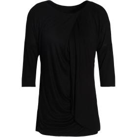 《期間限定セール開催中!》BAILEY 44 レディース T シャツ ブラック S レーヨン 95% / ポリウレタン 5%