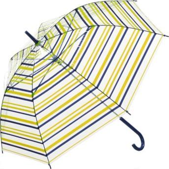 【fururi】ふるり) 着せ替えができるビニール傘 グリーンボーダー(フルリ)
