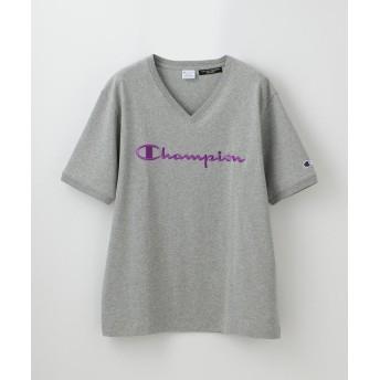 【20%OFF】 ラブレス MEN 別注VネックエンブロイダリーTシャツ メンズ グレー3 M 【LOVELESS】 【セール開催中】