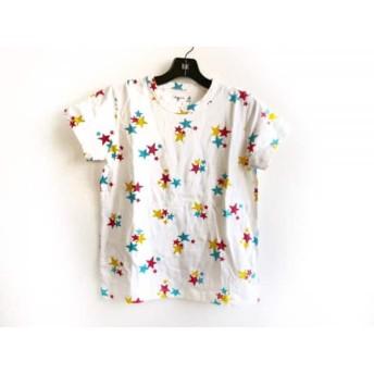 【中古】 アニエスベー 半袖Tシャツ サイズ1 S レディース 美品 アイボリー レッド マルチ スター